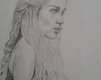 Game of Thrones drawing - Daenerys