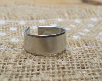 10 Polished 3/8' Ring Blanks 14g Food Safe 1100 Aluminum- FLAT