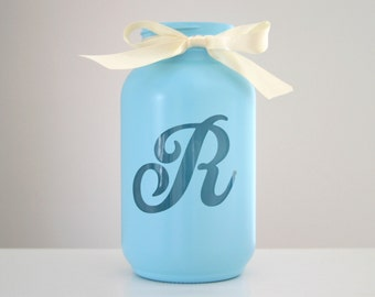 Custom Monogram Mason Jar