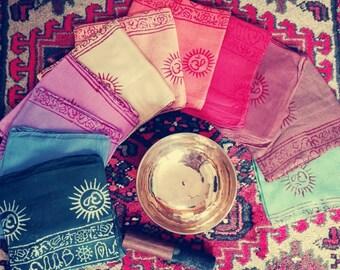 "Pashmina scarf////meditation Shawl ""Hippies"" Rainbow """