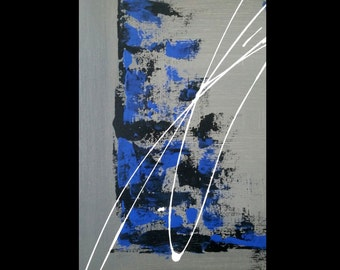 Black and Grey Series #1 -  Abstract Acrylic Painting