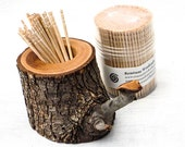 Bradford Pear Toothpick Holder with Toothpicks