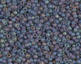 11/0 Matte Tr Gray AB  #152FR  Miyuki Seed Beads - 10 grams