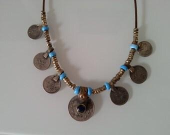 Necklace TURKMEN blue