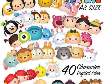 40 Tsum Tsum Character Digital Large Print Files