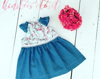 Christmas in July Sale Baby Girl Ruffle Dress - Girls Birthday Dress