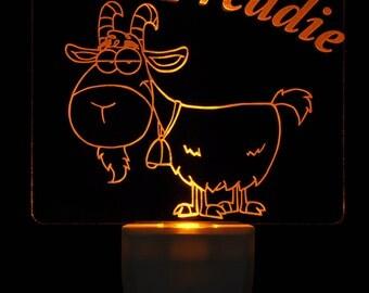 Little Goat Light Sensor LED Night Light, Personalized Custom LED Nightlight