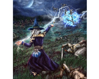 Mana Potion - Wizard / Mage - 8×10 Print - Full Color High Quality Print - Exclusive WTBPotions Design