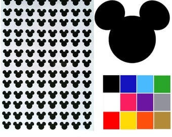 Mickey Mouse Stickers x 104. Mickey Mouse Heads.Self Adhesive Easy Peel Decals. Ships Worldwide. FREE UK SHIPPING.