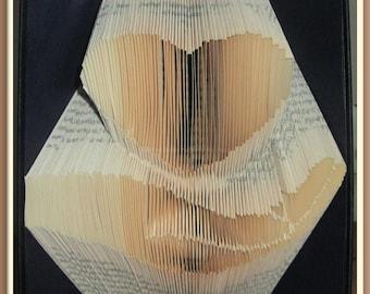 Hand Under Heart. Book Folding Pattern