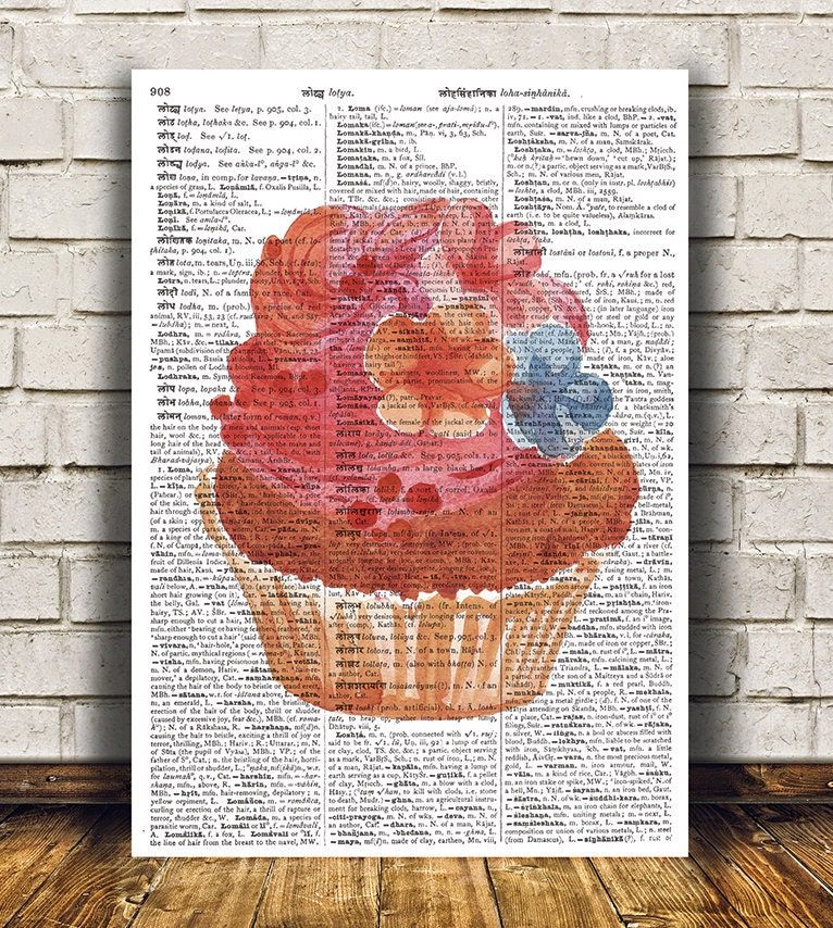 Cupcake Poster Kitchen Decor Print Best Free Home
