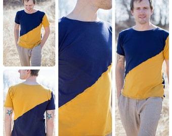 Mens Asymmetric Shirt