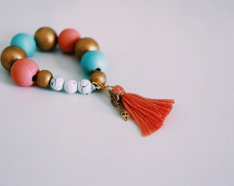 The Toot Bracelet — Coral/Pink