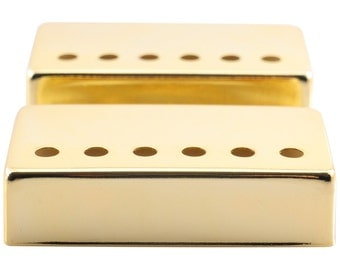 Pair of Gold Humbucker Electric Guitar Pickup Covers