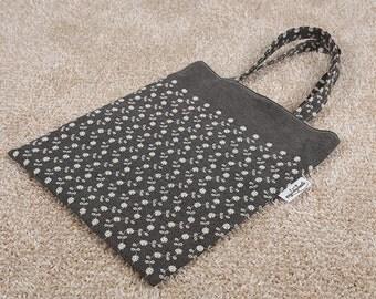 Cotton bag, Fabric bag, Reversible tote bag, Eco bag, Tote with pockets, Eco friendly