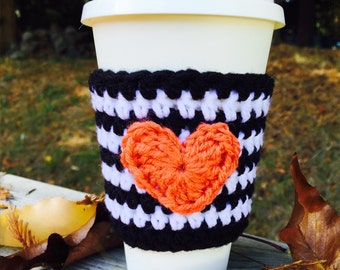 I Heart Fall Coffee Cozy