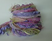 DAWN DREAM Adornment Fiber Art Bundle, Specialty Yarn Embellishment,  26 yards