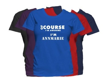 ANNMARIE Womens First Name T Shirt First Name Family Name Custom Personalized Name T-Shirt