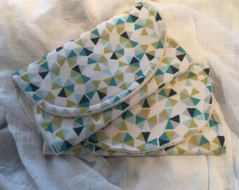 Blue Geo Organic Cotton Sherpa Burp Cloth