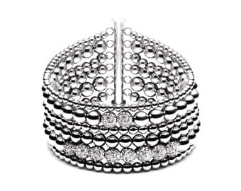 The row • luxury ball bracelet • 6 • Silver