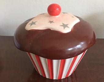 Large Strawbery Cupcake Candle