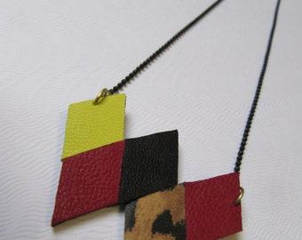 Collar leather with diamond