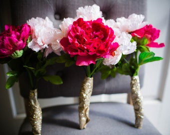 Pink Peony Bridesmaids Bouquets (Set of 3)