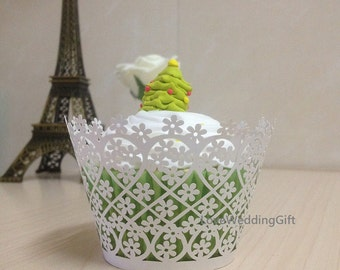 Cup Cake Wrappers with FLOWER pattern for Wedding/Birthday or Everyday Cooking (50pcs/set).