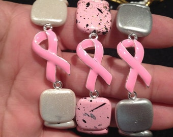 Stretch Bracelet, Pink Ribbon, Breast Cancer Awareness. Simple.