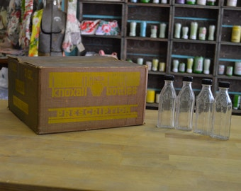 Case of 48 Vintage Knoxall Medicine Bottles - never used - NOS - complete in orignal box - 3iii -