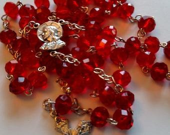 Royal Red Crystal Rosary