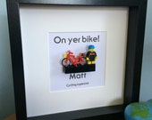 On Yer Bike personalised LEGO bike picture for cycling fans