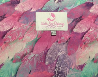 Fuchsia Feathers Cloth Diaper One Size Envelope Pocket
