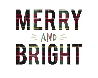 Merry & Bright - Colored Plaid