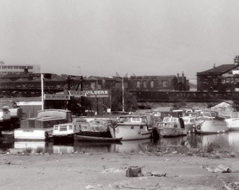 a 6x4 printed postcard of Sheffield Canal Basin, Sheffield.