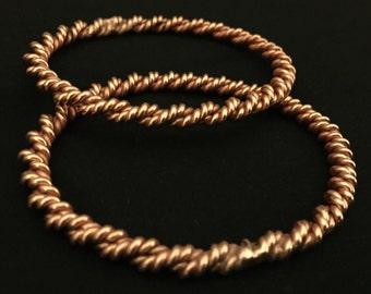 Teotihaucan Tensor Ring Bangle Double Twist