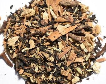MASALA CHAI | Artisan Black Tea Blend | Organic |  Loose Leaf and Tea Bags | Tea Tins | Eco-Friendly Packaging