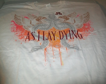 As I Lay Dying White T-Shirt Size 2X-Large
