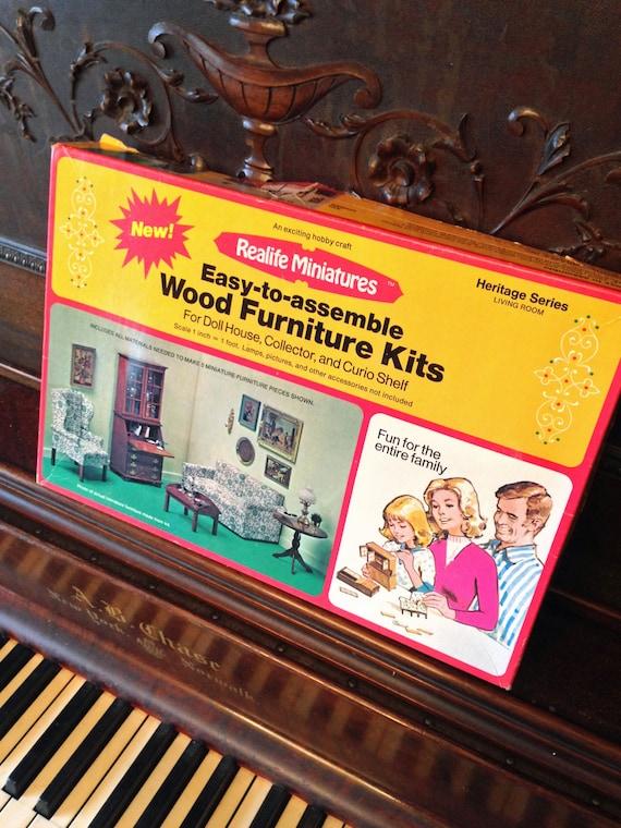 Reallife Miniatures Wood Furniture Kits Heritage Series Living