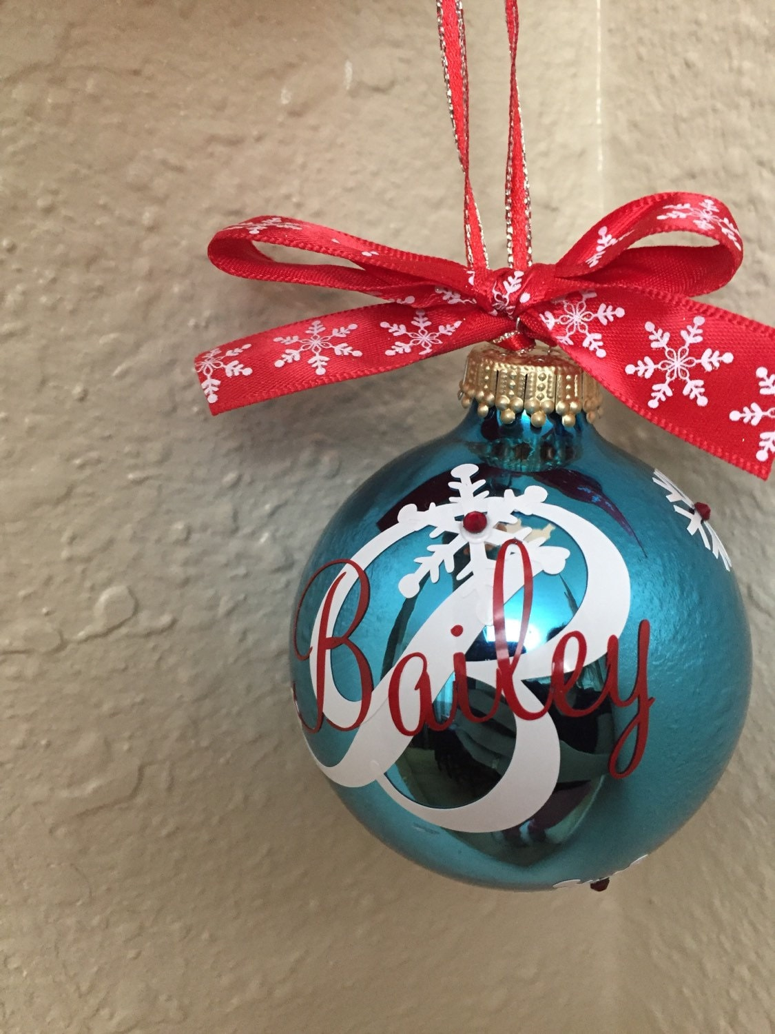 Personalized glass ornament christmas