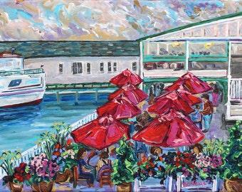 Pink Pony, Mackinac Island, Victorian, Shepler's Ferry, Restaurant on the water