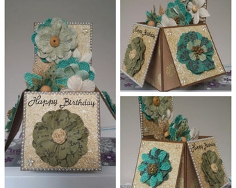 Greeting Card, 3D Box Card, Happy Birthday