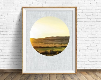 "landscape photography, large art, large wall art, instant download printable art, digital download, nature prints, decor - ""Meadow Sunset"""