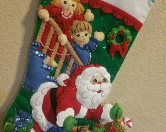 No Peeking Felt Stocking