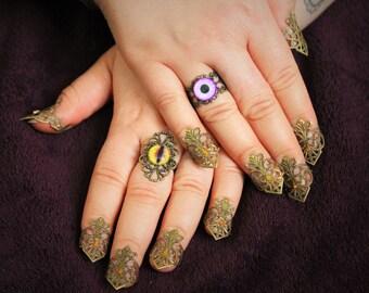 Bronze Filigree Finger Nail Claws