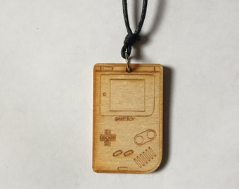 Wooden Gameboy Necklace