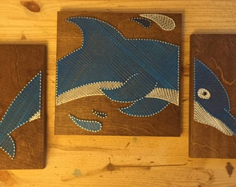 Dolphin String Art - 3 Panels