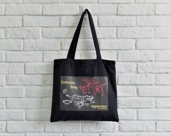 hand made natural plant dyed canvas tote bag