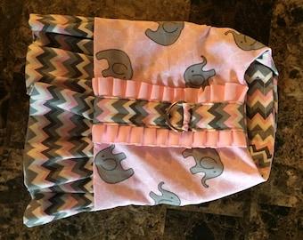 Dog Harness Pink Elephant Print
