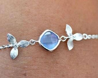 Bracelet blue wedding - Cedony - blue bridal Bracelet - Bridal bracelet - something blue - Bridesmaids gift - blue Bracelet - Bridal jewelry